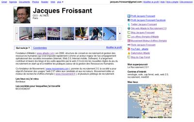 Profil Google Jacques Froissant