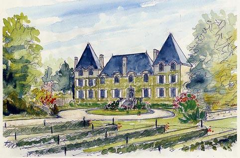 Chateaulenclosaquarelle_2